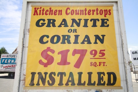 Kitchen Countertops Granite or Corian $17.95 sq ft Installed